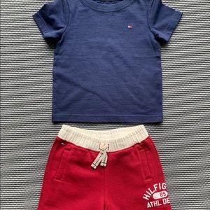 Tommy Hilfiger t-shirt Sweatpant Set 12M NWOT